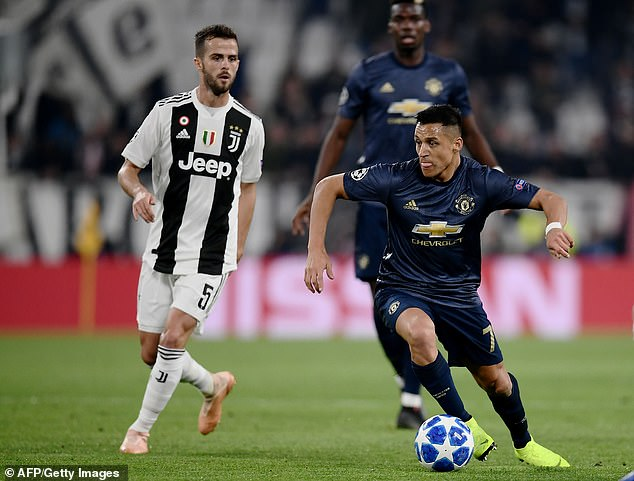 Alexis Sanchez suffered a thigh injury in the Champions League victory against Juventus in Turin