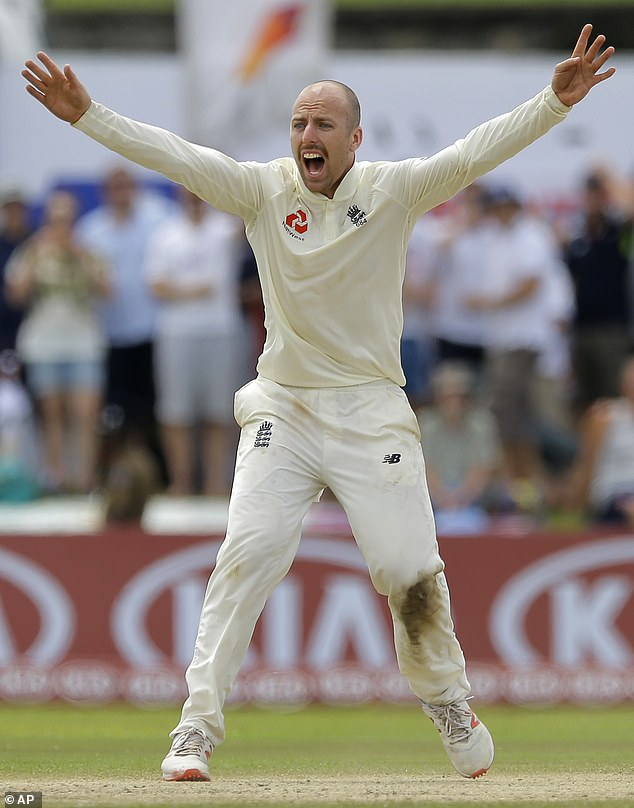 Jack Leach successfully appealed for the Sri Lanka wicket Kaushal Silva on the fourth day