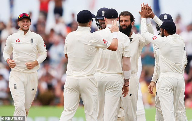 Moeen removed Karunaratne for 26, the second wicket fell while England chased victory