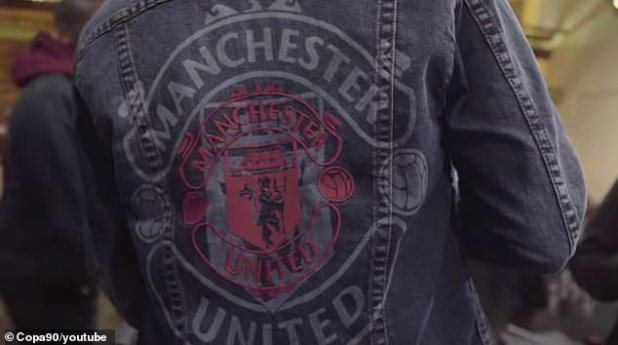 French represented his club in a denim jacket with a badge.
