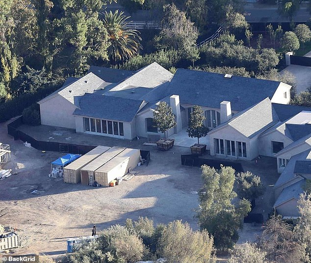 Kim Kardashian and Kanye West's $20m home in the Hidden Hills neighborhood in Calabasas. She was forced to flee with her children as wildfires swept Los Angeles and Ventura County