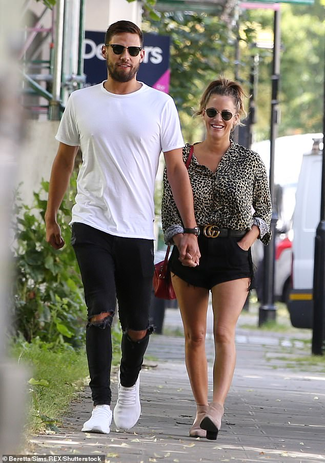 Is it over? Caroline's sweet social media outpouring comes amid claims she has split from reality star fiancé Andrew Brady, 27, again (pictured in June)