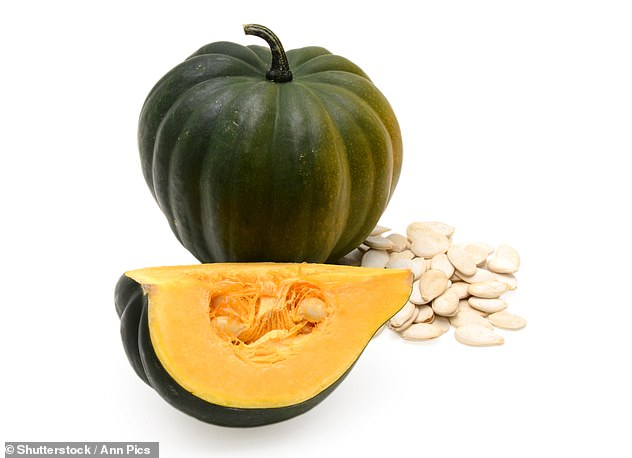 Nutty and tasty squash contains antioxidants and magnesium to fight depression