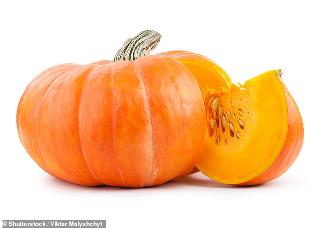 Go by, turkey: Pumpkin contains plenty of tryptophan, the sleepy amino acid found in turkey. Tryptophan plays a crucial role in serotonin production, which stabilizes mood