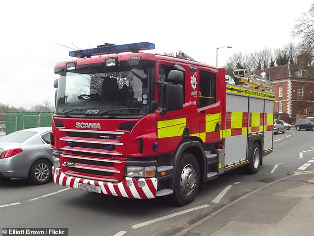 The Hereford and Worcester Fire and Rescue Service (the engine used by the service is pictured) will assist patients after discharge