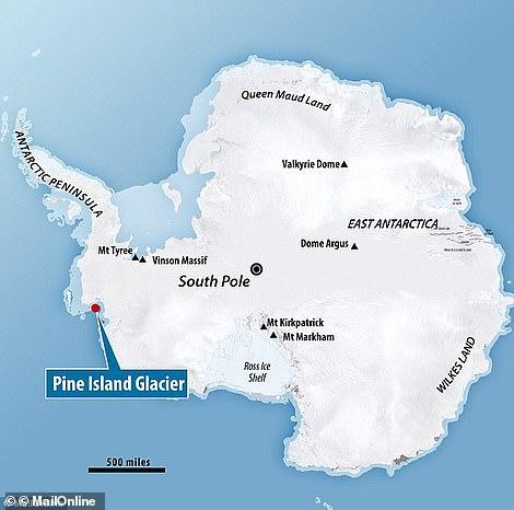 El plan de vuelo del miércoles llevó al equipo IceBridge sobre el glaciar Pine Island como parte de la campaña de larga duración para recopilar mediciones año tras año de hielo marino, glaciares y regiones críticas de las capas de hielo de la Tierra.