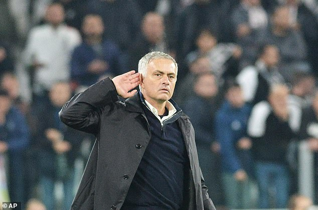 Mourinho shook hands with Juve after Wednesday's 2-1 win against Juve