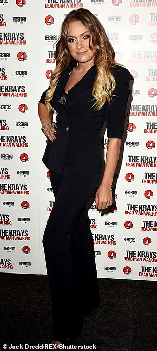 Soap stars: She won't be the only soap star as Hollyoaks star Malique Thompson-Dwyer, 20, and EastEnders' Rita Simons, 41, (pictured) are on the star-studded line-up
