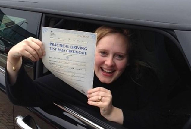 Adele, pictured above, passed her driving test in 2013. She said: ¿I want to have a real life so I can write records. No one wants to listen to a record from someone that¿s lost touch with reality. So I live a low-key life for my fans¿