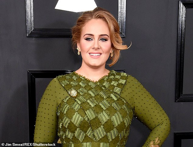 Adele, above, pictured at the 59th Annual Grammy Awards in Los Angeles last year. Adele¿s fortune is reported to have grown by £15 million over the past year