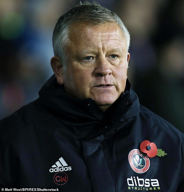 The Sheffield United coach, Chris Wilder, sees his team face the city's rivals on Friday