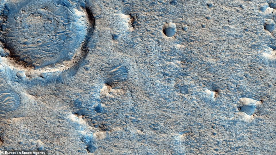 Oxia Planum (close-up pictured), where it's thought a large body of water sat billions of years ago. ESA and Roscosmos wants to review the proposal before officially confirming the ExoMars landing site in mid-2019, ahead of the 2020 launch