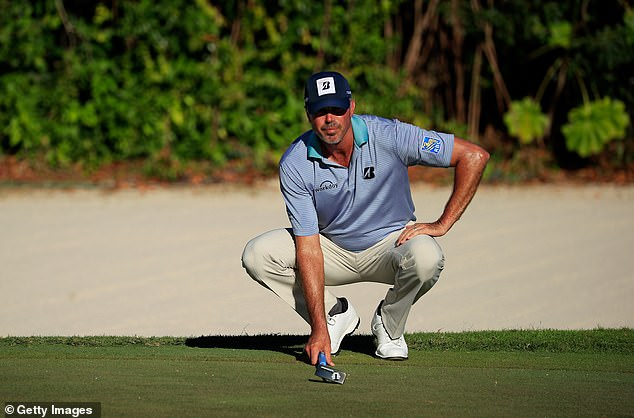 The American hit a seven under 64 and finished Friday with a two-shot advantage