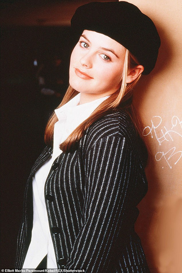 Remember when: Alicia became a star at 18 with the film Clueless (pictured), went vegan at the age of 21 and promoted the lifestyle on the talk show circuit