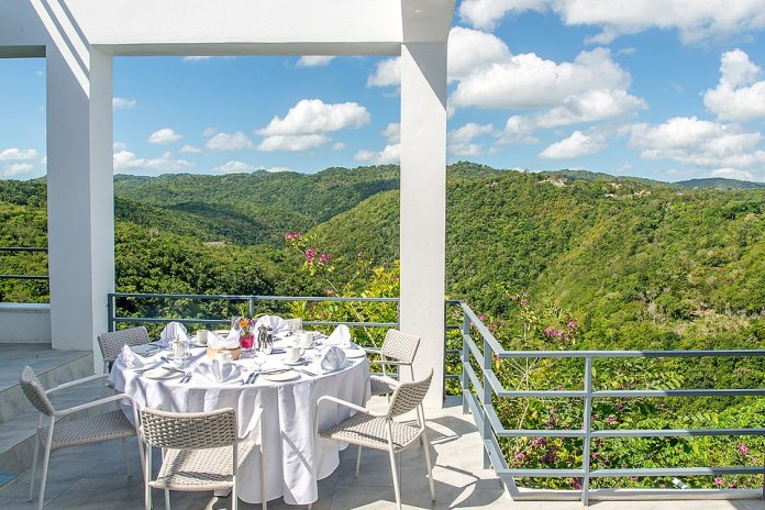 Breakfast with a view: Joshua and co feel natural when they take their morning coffee in Montego Bay