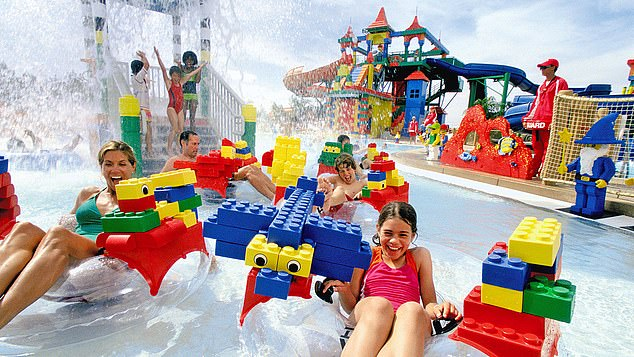 Fun in the sun: the Legoland water park is suitable for children between the ages of 2 and 12