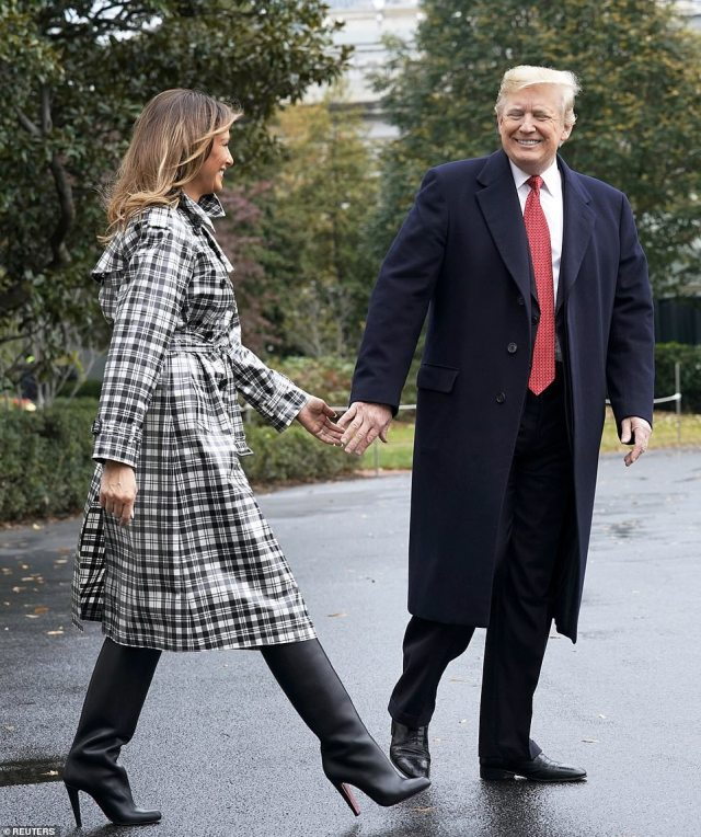 Donald Trump and first lady Melania Trump are on their way to France for a program celebrating the centennial anniversary of the cessation of hostilities in WWI