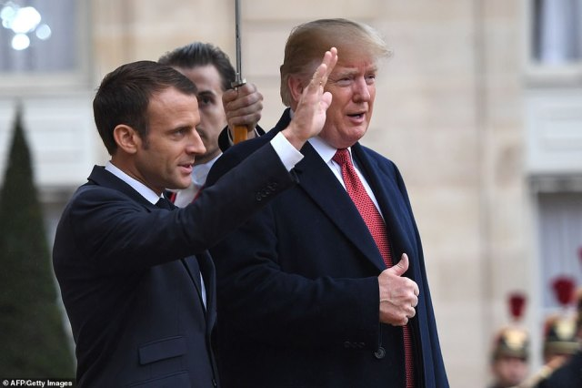 Trump gave a thumbs up to press as he arrived, signaling that he was no longer angry at his friend