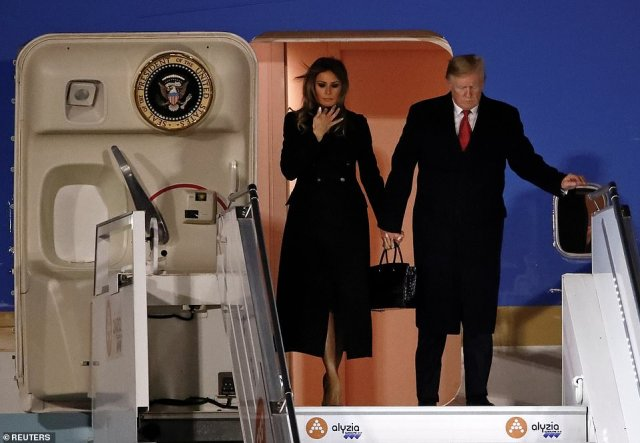 Seconds after his plane was wheels down in Paris, Donald Trump attacked host Emmanuel Macron for suggesting that Europe needs to raise a standing army to protect itself from China, Russia and the United States