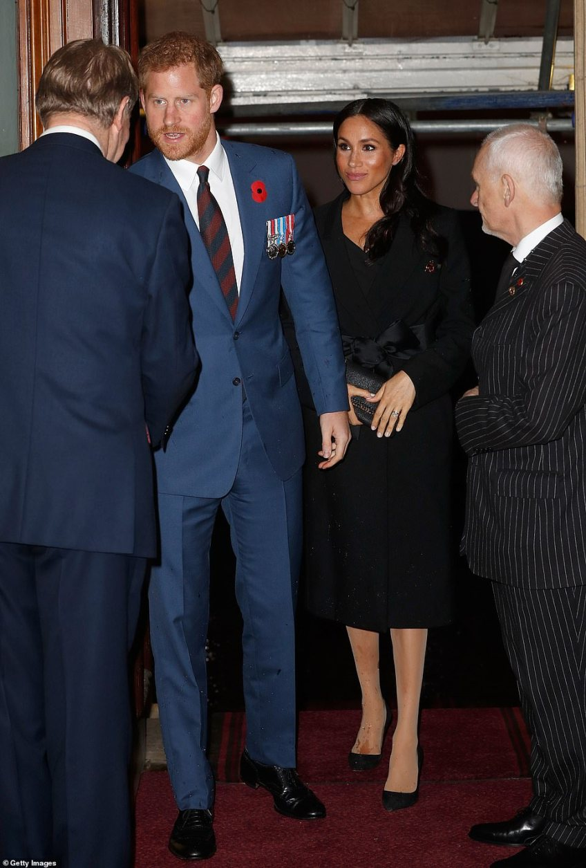 Prince Harry, Duke of Sussex and the Duchess of Sussex attend the Royal British Legion Festival of Remembrance at the Royal Albert Hall