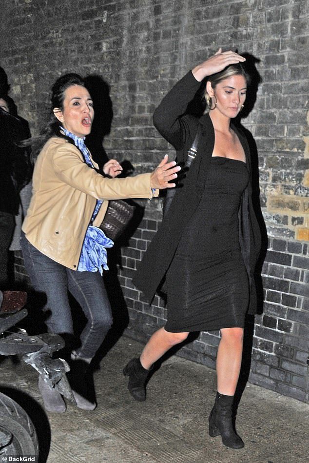 Glamorous: Ben's 'ex' Shauna Sexton cut a glamorous figure as she visited the Chiltern Firehouse restaurant in London on Saturday