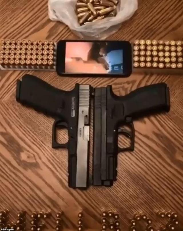 The group have even posted a photo with two pistols side by side, complete with ammunition. They are said to rule London's cocaine trade with an iron fist