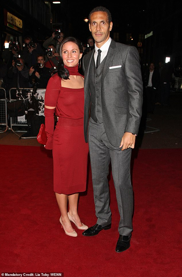 Tragic: The football pundit's wife Rebecca Ellison sadly passed away in 2015 after a battle with cancer, aged just 34 (pictured in October 2009)