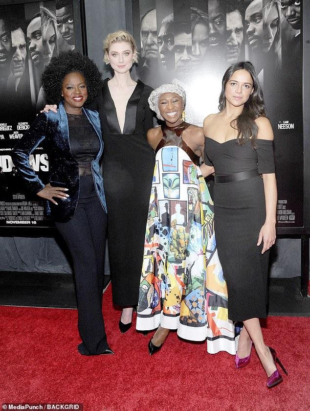 Distribution des stars: Elizabeth Debicki aux côtés de Viola Davis, Cynthia Erivo et Michelle Rodriguez avant la sortie américaine du film