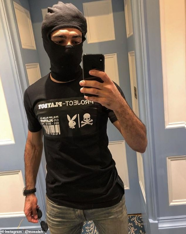 Salah had dressed up in a balaclava to 'travel incognito' at the start of Egypt duty