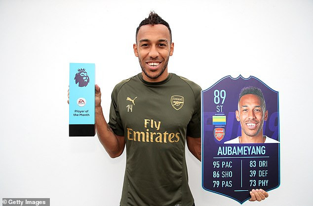Pierre-Emerick Aubameyang won the Premier League Player of the Month award for October