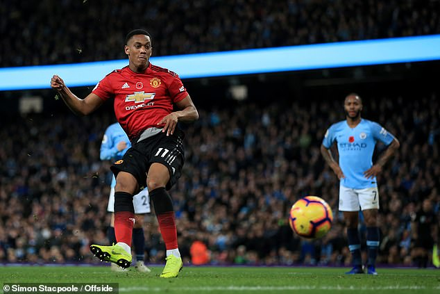 Anthony Martial's good form in front of goal has spared Manchester United from further agony