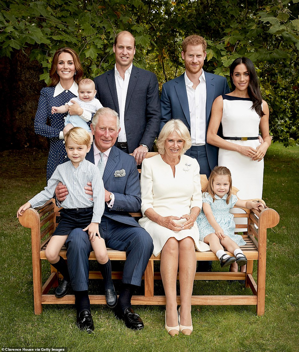 The book revealed the Prince of Wales' official 70th birthday photograph with his family was a 'nightmare' to plan because his sons blew 'hot and cold' with their father. The picture was taken at Clarence House on September 5, 2018