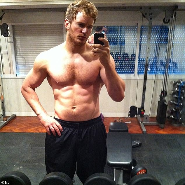 Star clients: Luke also trains Chris Pratt (pictured), who recently underwent an incredible body transformation