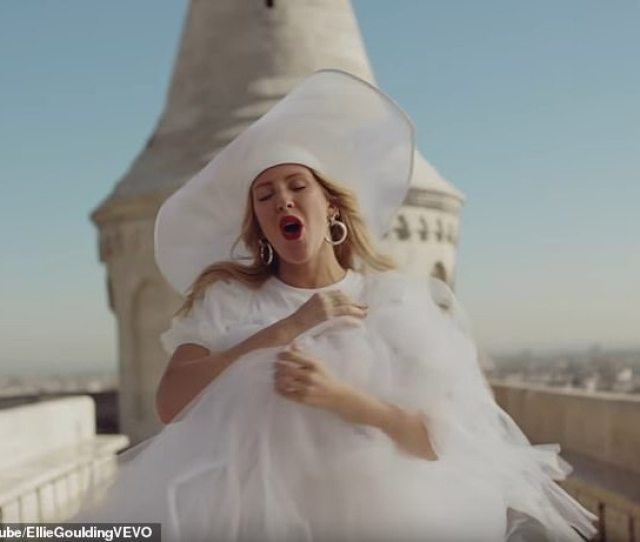 Ellie Goulding Was Wedding Ready In Her Bridal Inspired Gown