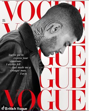 Over: Speaking to British Vogue , the former One Direction singer, 25, said he is not a practicing Muslim anymore and no longer believes in the religion