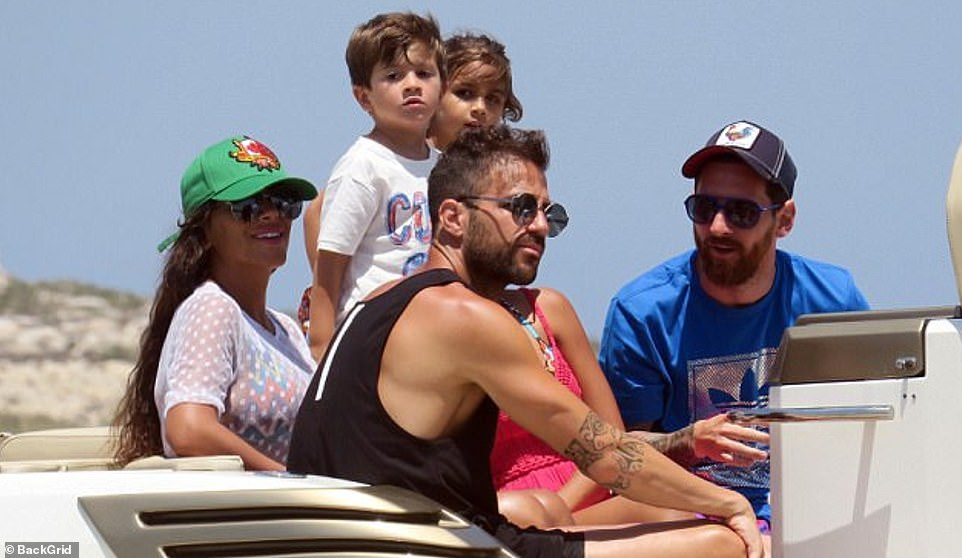 The Messi family count as close friends Cesc Fabregas, a childhood friend at Barcelona, and his wife, Daniella