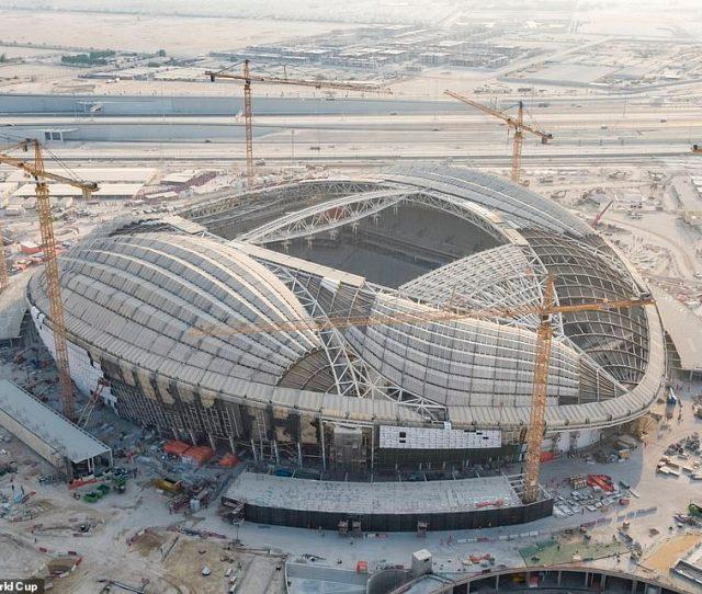 The Shell Of The Al Wakrah Stadium Dubbed The Vagina Stadium Is Starting