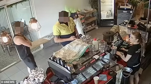 An unsuspecting small business has been scammed out of thousands of dollars by two dodgy tradesmen who used a stolen card trick at the cash register