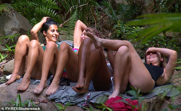 Cheeky: Sair started by doing her impression of Love Island's Dani Dyer, Emily soon followed it up with her version and all the girls laughed