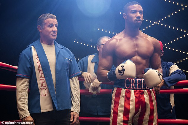 It paid off: The actor had to stay in shape for his role asplay boxer Adonis Creed in Creed II