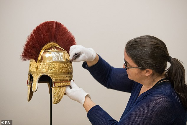 Researchersspent 18 months using cutting-edge technology and ancient craft techniques to create two identical replica helmets