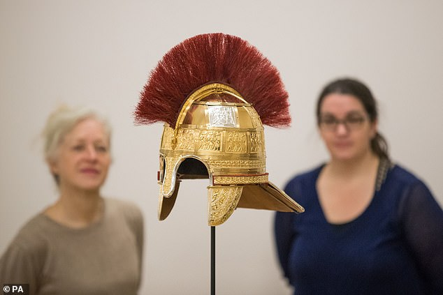 Fragments used as a base for the reconstruction are from a high status helmet likely worn by a military General. Heavily damaged before it was buried, the treasure - believed to be more than 1,300-years-old - contained more than 4,000 fragments