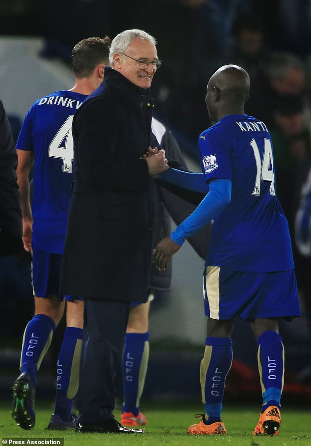 N & # 39; Golo Kante starred with Claudio Ranieri, left, in Leicester (Nick Potts / PA)