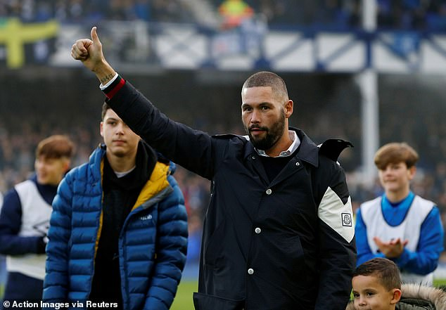 Tony Bellew watched as Everton beat Cardiff after announcing his retirement from boxing