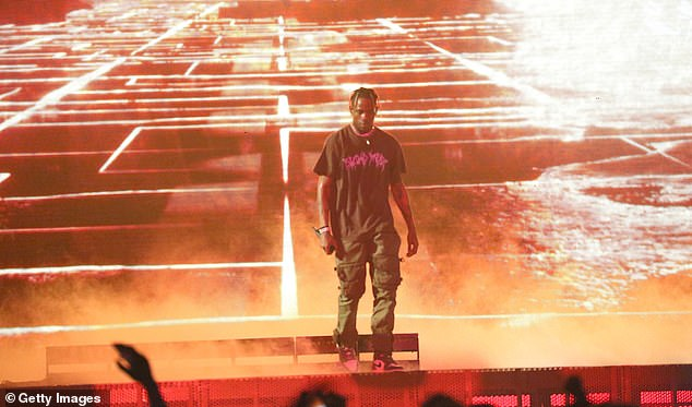 Mums the world: After his sold out show in Newark, the ASTROWORLD rapper refused to answer marriage questions
