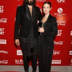 Russell Brand and wife at the British Curry Awards