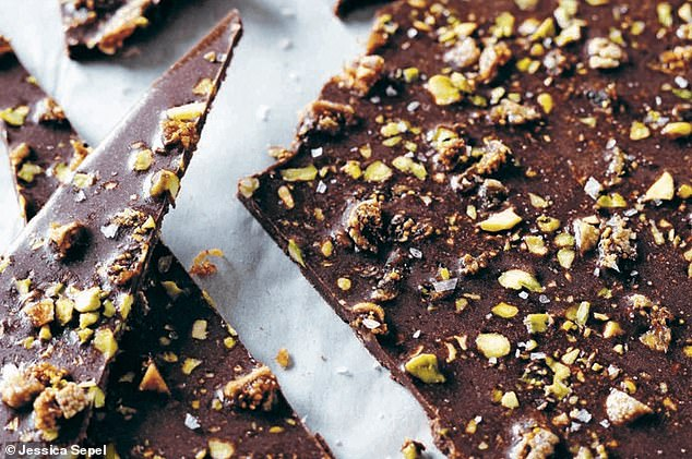 It's hard to believe chocolate that looks this good could be healthy and while Jessica's swap is a decadent treat, it's also sugar-free