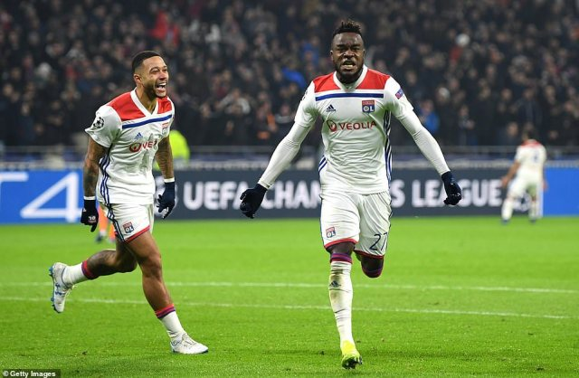 Cornet put Lyon ahead with a brilliant fierce strike into the corner of the net in the 55th minute of the tight clash