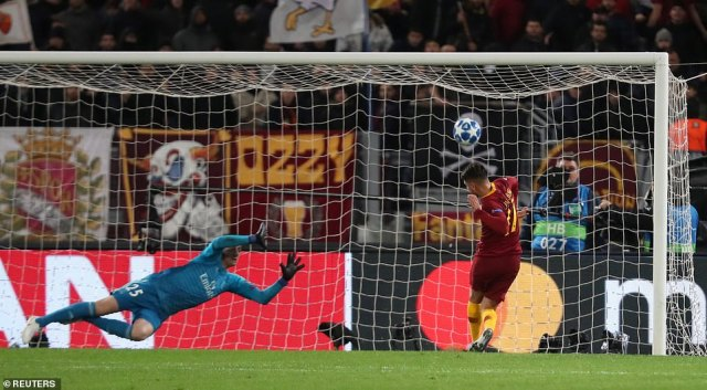 Under sent the ball over when presented with a fine opportunity to put Roma in front on the stroke of half-time on Tuesday
