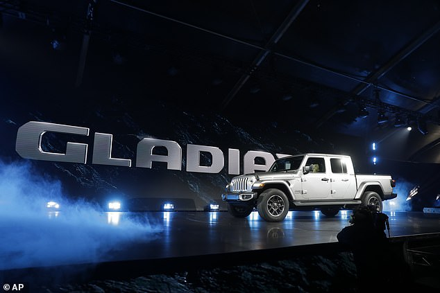 The new Gladiator was unveiled on Wednesday in a spectacular ceremony at the Los Angeles Auto Show